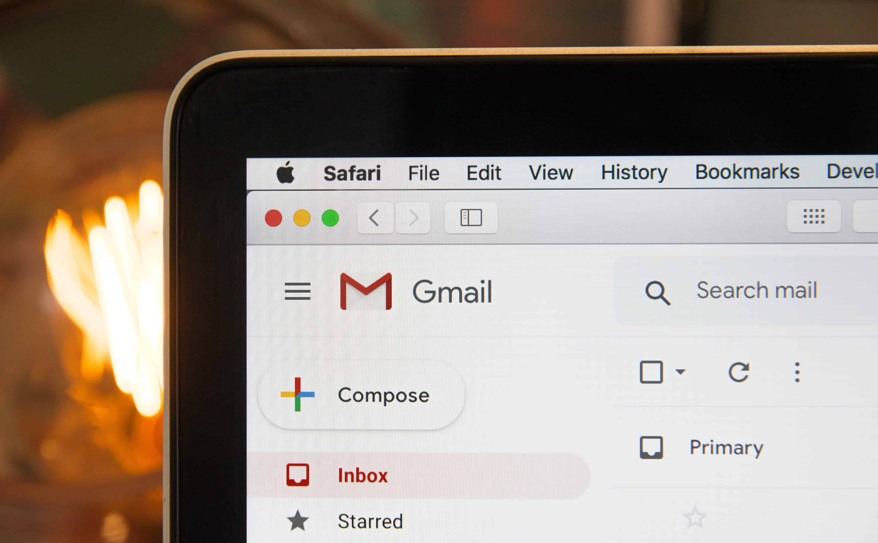 A Gmail inbox to represent email deliverability.